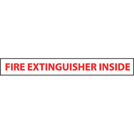 Fire Safety Sign - Fire Extinguisher Inside - Vinyl