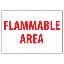 Fire Safety Sign - Flammable Area - Vinyl