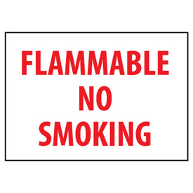 Fire Safety Sign - Flammable No Smoking - Plastic