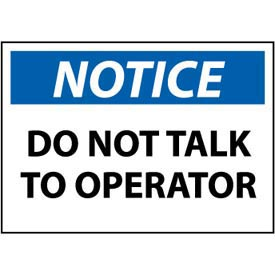 Machine Labels - Notice Do Not Talk To Operator