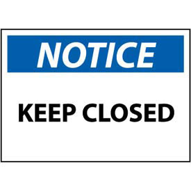 Machine Labels - Notice Keep Closed