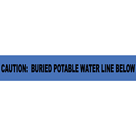 "Non-Detectable Underground Warning Tape - Caution Buried Potable Water - 3""W"