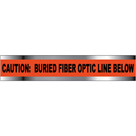 "Non-Detectable Underground Warning Tape - Caution Buried Fiber Optic Line - 3""W"