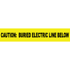 "Non-Detectable Underground Warning Tape - Caution Buried Electric Below - 3""W"