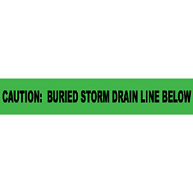 "Non-Detectable Underground Warning Tape - Caution Buried Storm Drain Below - 6""W"