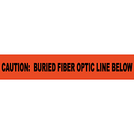 "Non-Detectable Underground Warning Tape - Caution Buried Fiber Optic Line - 6""W"