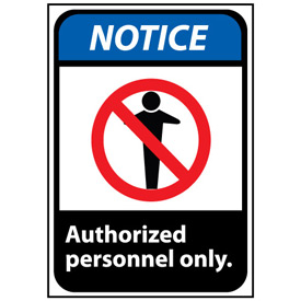 Notice Sign 14x10 Aluminum - Authorized Personnel Only
