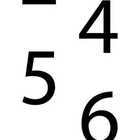 DOT Placard - Numberal Set 0-9