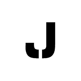 """Individual Character Stencil 24"""" - Letter J"""