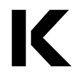 """Individual Character Stencil 8"""" - Letter K"""