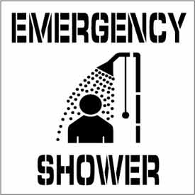 Plant Marking Stencil 20x20 - Emergency Shower
