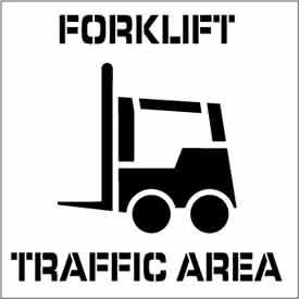 Plant Marking Stencil 20x20 - Forklift Traffic Area