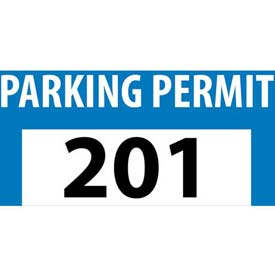 Parking Permit - Blue Bumper Decal 201 - 300
