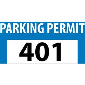 Parking Permit - Blue Bumper Decal 401 - 500
