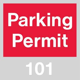 Parking Permit - Red Windshield 101 - 200