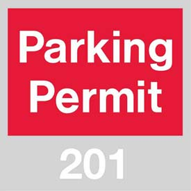 Parking Permit - Red Windshield 201 - 300