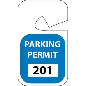 Parking Permit - Blue Rearview 201 - 300