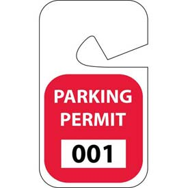 Parking Permit - Red Rearview 001 - 100