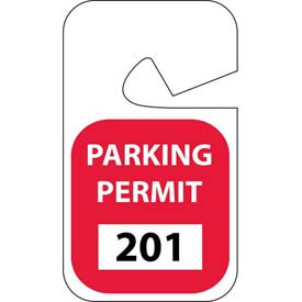 Parking Permit - Red Rearview 201 - 300