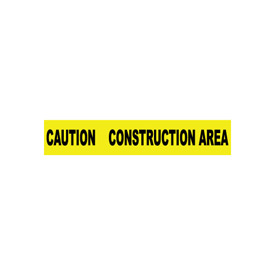 Printed Barricade Tape - Caution Construction Area