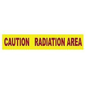 Printed Barricade Tape - Caution Radiation Area