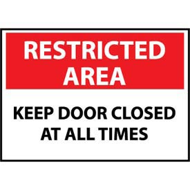 Restricted Area Aluminum - Keep Door Closed At All Times