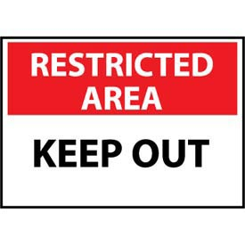 Restricted Area Aluminum - Keep Out