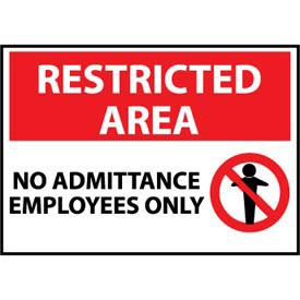 Restricted Area Plastic - No Admittance Employees Only