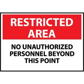 Restricted Area Plastic - No Unauthorized Personnel Beyond This Point