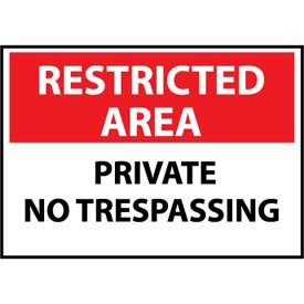 Restricted Area Plastic - Private No Trespassing