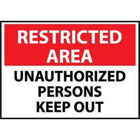 Restricted Area Plastic - Unauthorized Persons Keep Out