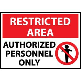 Restricted Area Aluminum - Authorized Personnel Only