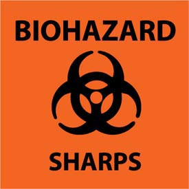Graphic Safety Labels - Biohazard Sharps
