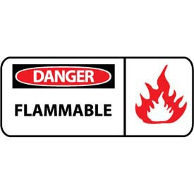 Pictorial OSHA Sign - Vinyl - Danger Flammable