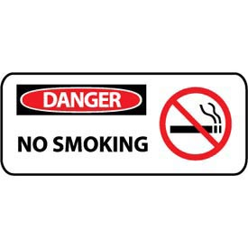 Pictorial OSHA Sign - Vinyl - Danger No Smoking