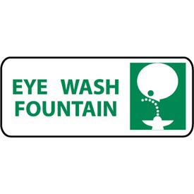 Pictorial OSHA Sign - Vinyl - Eye Wash Fountain