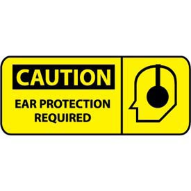 Pictorial OSHA Sign - Plastic - Caution Ear Protection Required