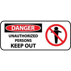 Pictorial OSHA Sign - Plastic - Danger Unauthorized Persons Keep Out