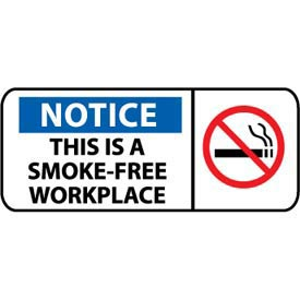 Pictorial OSHA Sign - Plastic - Notice This Is A Smoke-Free Workplace