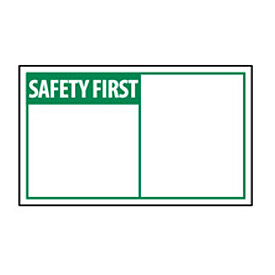 Graphic Machine Labels - Safety First Blank with Header Only