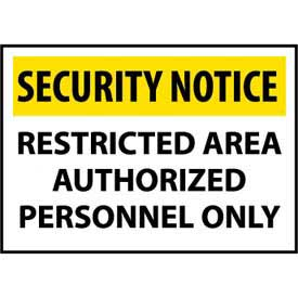 Security Notice Aluminum - Restricted Area Authorized Personnel Only