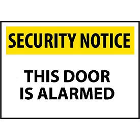 Security Notice Aluminum - This Door Is Alarmed