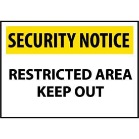 Security Notice Aluminum - Restricted Area Keep Out