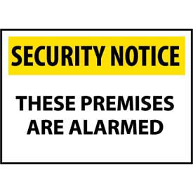 Security Notice Plastic - These Premises Are Alarmed