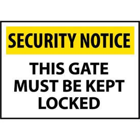 Security Notice Plastic - This Gate Must Be Kept Locked
