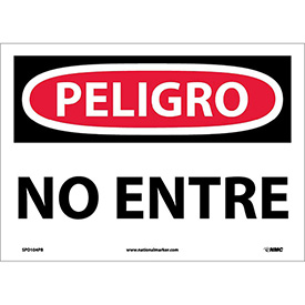 Spanish Vinyl Sign - Peligro No Entre