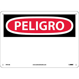 Spanish Aluminum Sign - Peligro Blank