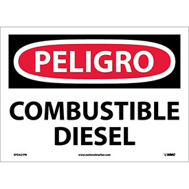 Spanish Vinyl Sign - Peligro Combustible Diesel