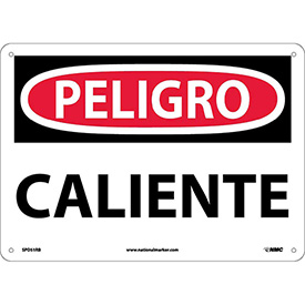 Spanish Plastic Sign - Peligro Caliente