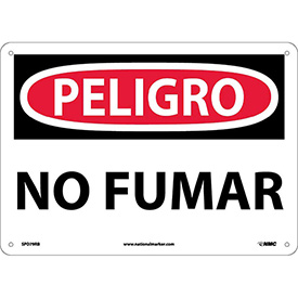 Spanish Plastic Sign - Peligro No Fumar